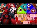 SPIN THE WHEEL OF PLAYERS FROM RED TEAMS ONLY! Madden 19 Ultimate Team Squad Builder