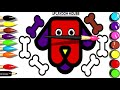7 New Style Dog and Bones Coloring and Drawing Pages / Colors for Kids Coloring Pages