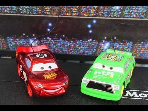 Disney Pixar Cars Lightning McQueen & Chick Piston Cup 500 Race Track Playset