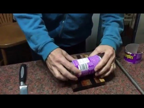 Easy Way To Cut Aluminium Cans for crafts etc