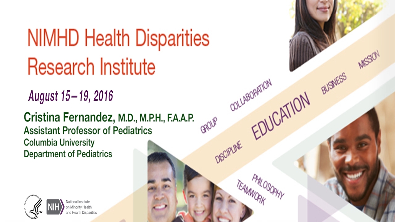 2016 Health Disparities Research Institute Scholar Dr  Cristina Fernandez