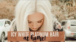DIY PLATINUM BLONDE HAIR | how I color my hair at home