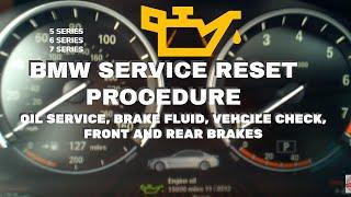 BMW Service Reset 7 Series F01 / F02 Oil Service+