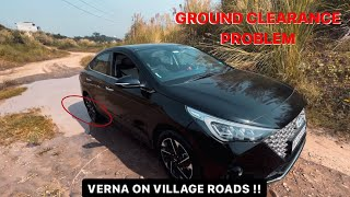 Driving VERNA 2021 on Village Roads *Off-Road Mode Activated* | YASH