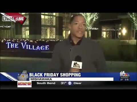 News Reporter Is Upset About Lack Of Black Friday Shoppers!