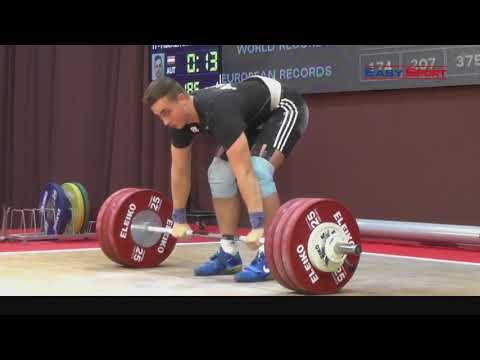 DAVID FISCHER - 5.Platz Reißen 153kg - 3.Platz Stoßen 189kg - 4.Platz Zweikampf 342kg