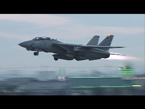 F 14 TOMCAT Full Afterburner Take Off 1996 Long YouTube
