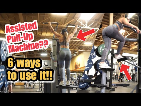 6 DIFFERENT WAYS TO USE ASSISTED PULL-UP MACHINE | Target Different Muscle Groups