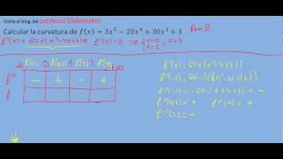 Curvatura de una función polinomio ejercicios 02b