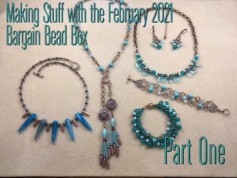Making stuff with the February 2021 Bargain Bead Box