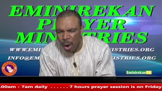 Evangelist Jackson Afolayan on Eminirekan Prayer Ministries Late Night Prayer 28th August 2018