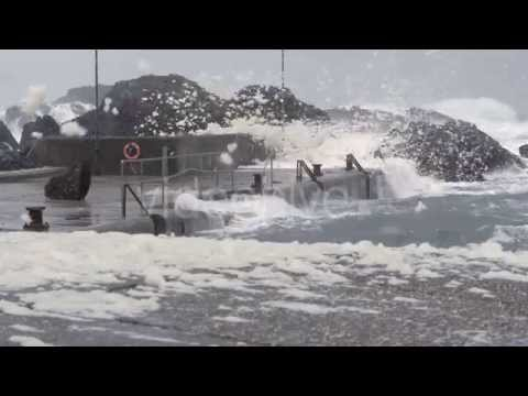 Ocean Storm at Ballintoy Harbour - Stock Footage