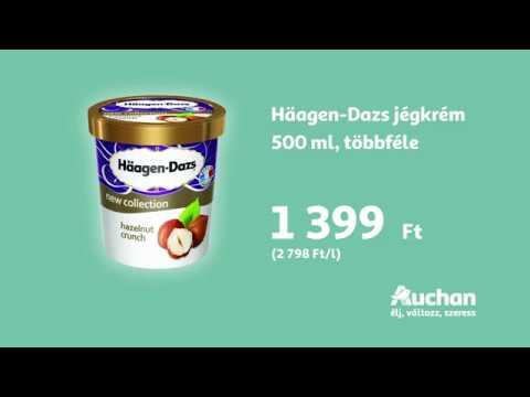 Az 500 ml-es Hagen Dazs jégkrém most csak 1399 Ft az Auchanban