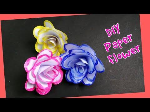 DIY Paper Flower   Paper Craft   Suhana's Crafty Studio