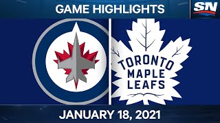 NHL Game Highlights | Jets vs. Maple Leafs - Jan. 18, 2021