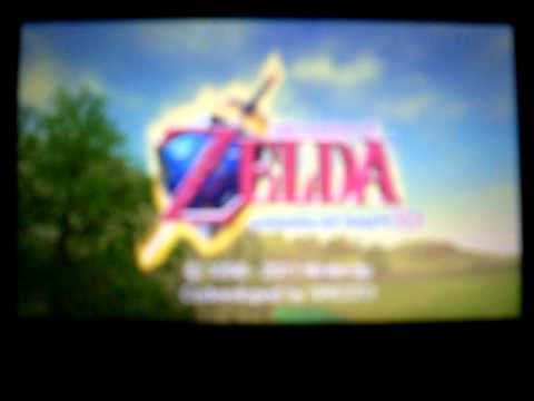 THE LEGEND OF ZELDA OCARINA OF TIME 3DS INTRO
