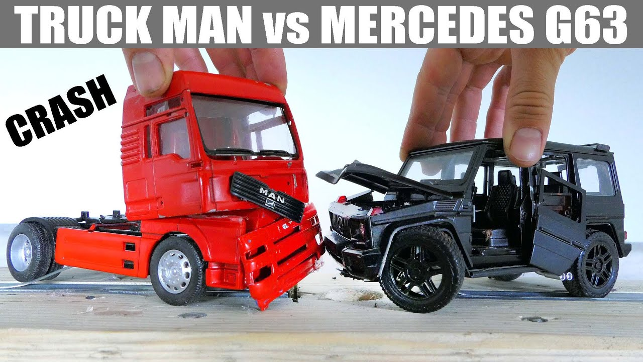 Truck vs Mercedes G63 / CRASH Test
