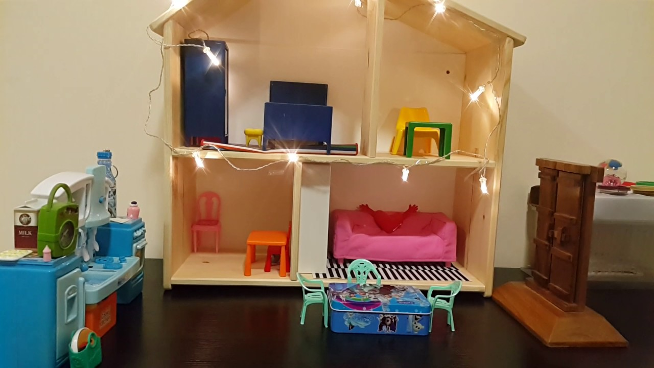 ikea dolls house furniture huset flisat doll house from ikea youtube