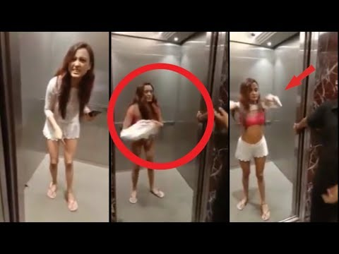 {Women Strips in Mumbai Elevator} Actress Megha Sharma Strips in lift in Lokhandwala || AAPKA NEWS