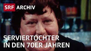 Service-Angestellte im Gastgewerbe in den 70er Jahren | Restaurant zum Kropf | SRF Archiv