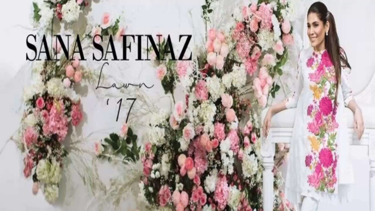 35bd78702e Sana Safinaz Lawn Collection 2017 with Price - YouTube