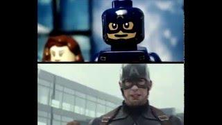 Captain America: Civil War - Trailer IN LEGO (Side by Side)
