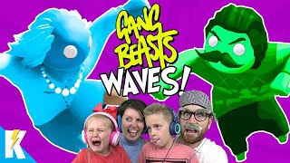 Gang Beasts Family Gaming Battle! (WAVES) on KIDCITY