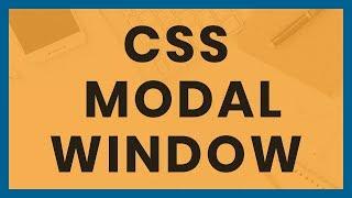 CSS Modal Window - Responsive Popup box with HTML & CSS Flexbox - No Javascript - Video Tutorial