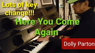 Dolly Parton - Here You Come Again piano cover by Praben (1 minute)