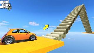 قراند 5 : باركور مجنون صعود درج أنابيب 🐸 !GTA 5 - Crazy Pipe Stairs Parkour