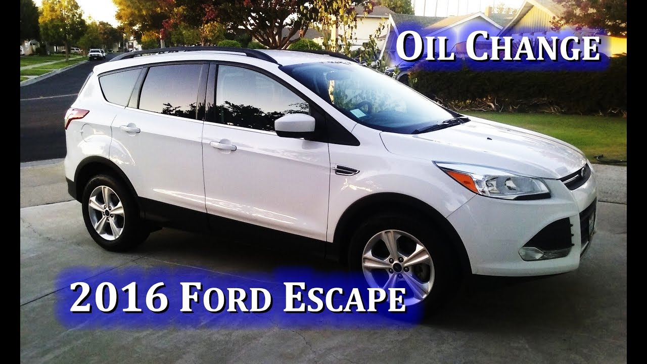 2016 Ford Escape Oil Change 1 6 L Ecoboost