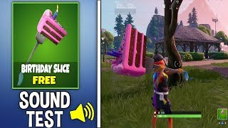 *NEW* FREE BIRTHDAY SLICE PICKAXE Gameplay in Fortnite!