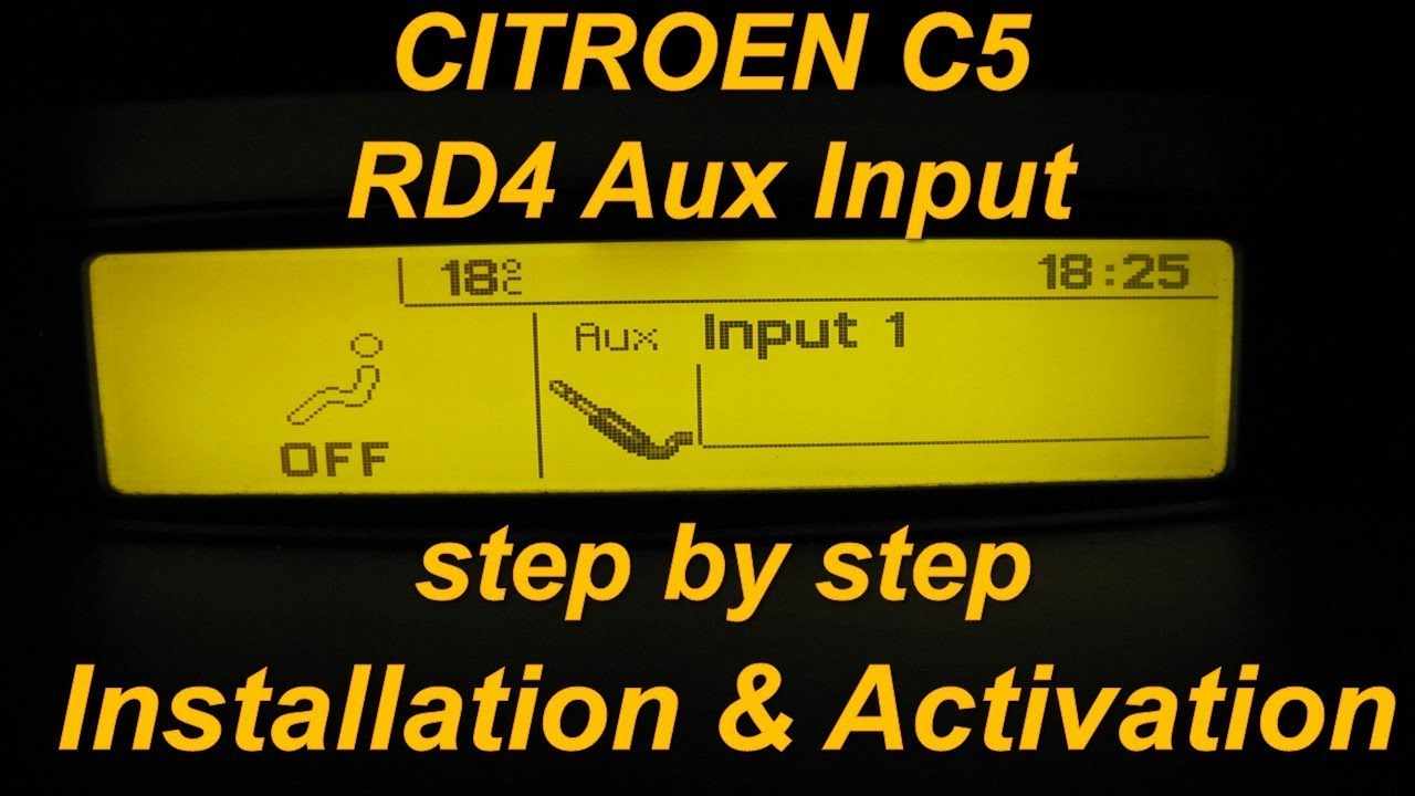 citroen c5 rd4 aux input installation and activation with lexia rh youtube com