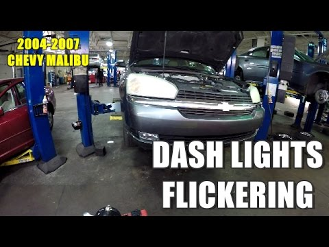 Dash Lights Flickering 2004 2007 Chevy Malibu