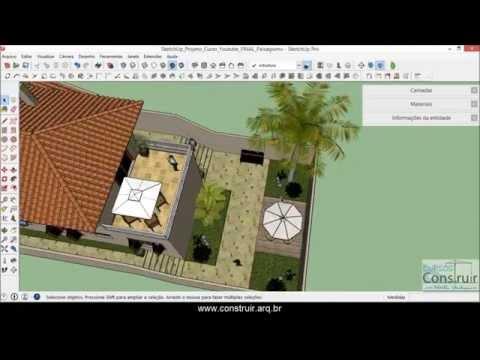 SketchUp 2015 Aula 38: Criando paisagismo com as ferramentas da Caixa de Areia (CURSO GRATUITO)