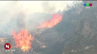 Incendios en Córdoba: el fuego rodeó el observatorio de Bosque Alegre