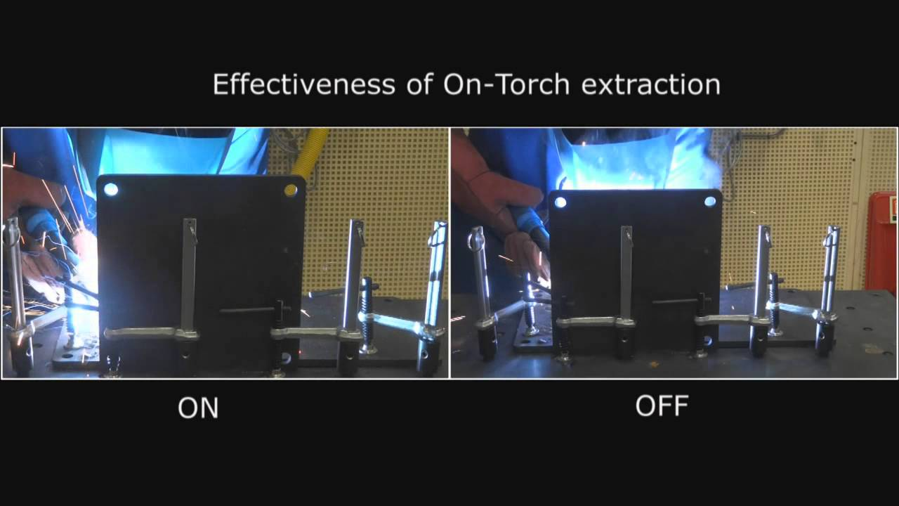 welding: effectiveness of on-torch extraction - local exhaust