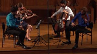 Friction Quartet plays Brahms Quartet No. 3 - Andante