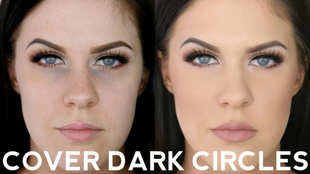 Dark under eyes makeup