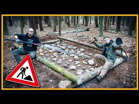 Bushcraft Blockhaus - Unser neues Camp - Outdoor Bushcraft Deutschland