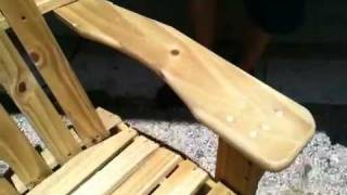 Homemade Adirondack Chair
