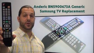 ANDERIC BN5900673A Generic Samsung TV Remote - www.ReplacementRemotes.com
