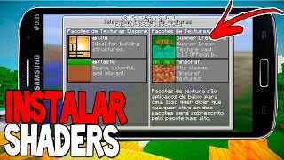 MCPE 0.15.0/0.15.1: Como Colocar Shaders direto no Minecraft PE | Tutorial 0.15
