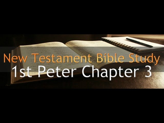 1st Peter Chapter 3 - Reading Through The Holy Bible
