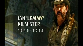Ian 'Lemmy' Kilmister the Motorhead and Hawkwind legend - R.I.P. -  29/12/15 - UK News tributes