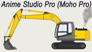 Гусеничный Экскаватор. Скачать готовые 2d модели для анимации в Anime Studio Pro (Moho Pro)