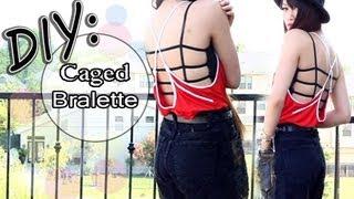 ☀DIY: Summer Bralette Bandeau {Caged Back}