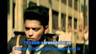 Bruno Mars - Grenade Karaoke