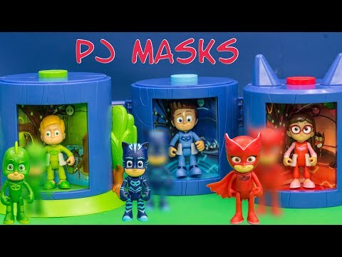 PJ MASKS Disney Transforming Rooms for Gekko Owlette and Catboy TheEngineeringFamily  Toys Video