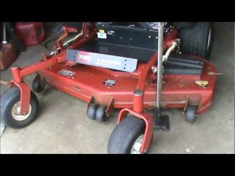How to take blades off zero turn mowers